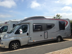 Zigie at rest at Southern Motor Homes, Thornfalcon, Taunton