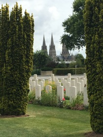 Bateaux Cathedral from WW2 Cemetery