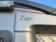 Zygie named - just above the door on either side