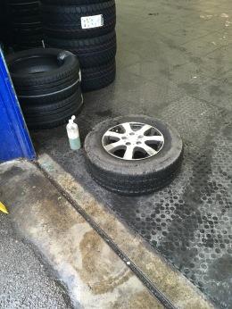 Testing tyre